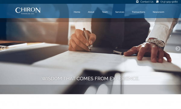 Chiron Financial website