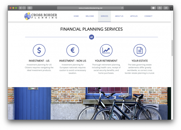 Cross Border Planning website