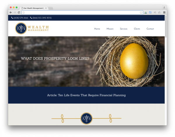 Kan Wealth Management website