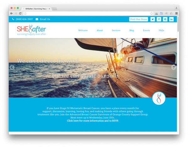 SHEafter website