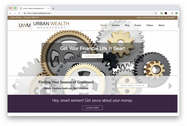 Urban Wealth Management website