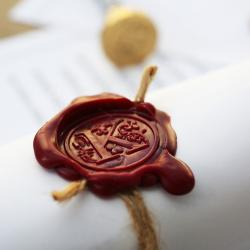 old notarial wax seal